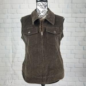 Cabela's size M zip front vest pockets corduroy